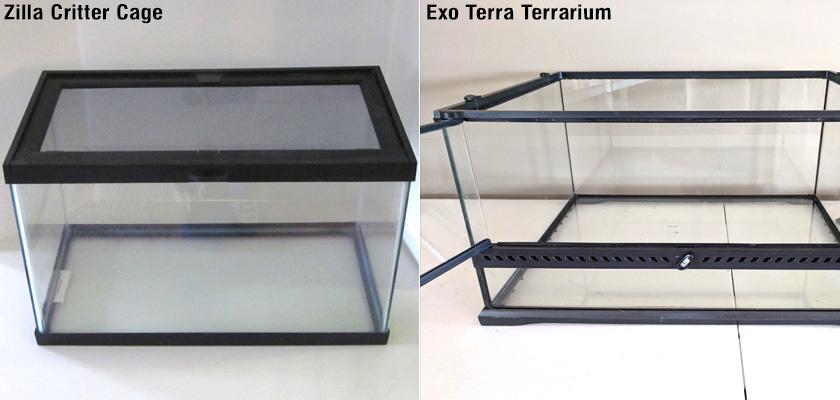 Zilla Critter Cage & Exo Terra Terrarium